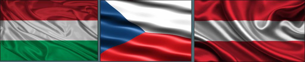 tus guias de viaje - banderas - hungría - república checa - austria