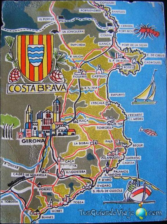Costa Brava Espana Mapa.Que Ver En La Costa Brava Un Paraiso En El Noreste De Espana