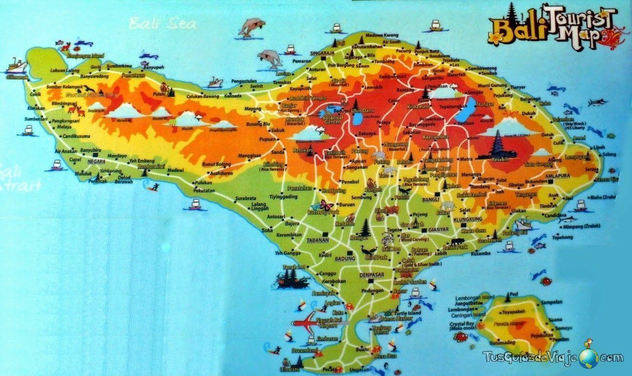 Qu ver en bali las playas y selvas ms espectaculares mapa de bali gumiabroncs Images