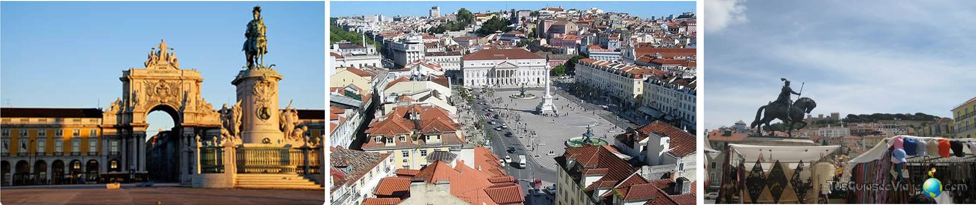 qué ver en lisboa: Plaza do Comercio y la plaza do Rossio