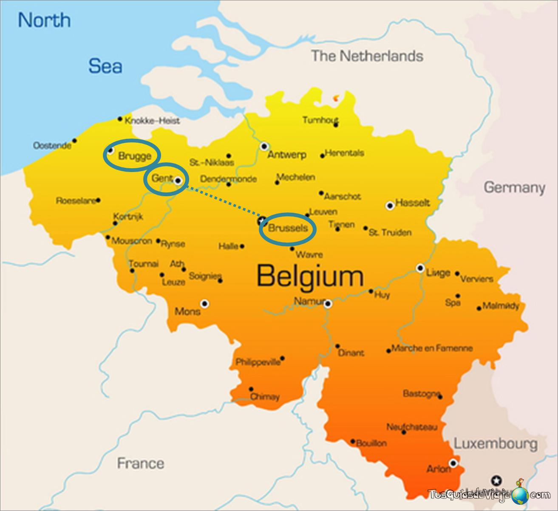 mapa de bruja, gante y bruselas
