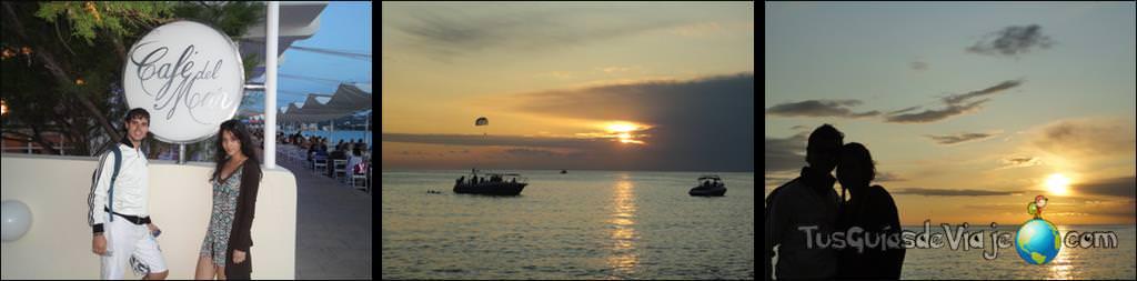 puesta de sol en café del mar y mambo cafe