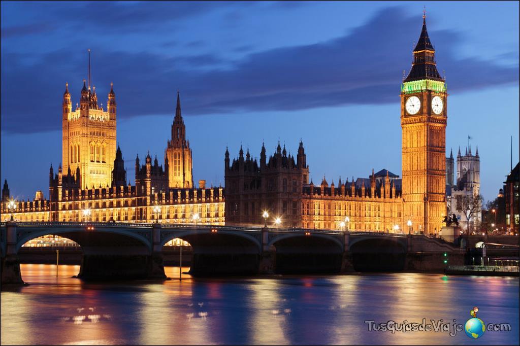 Vista nocturna del parlamento de londres