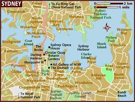 mapa de sidney