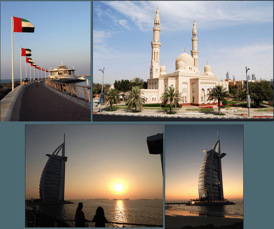 restaurante 360º con preciosas vista al burj al arab