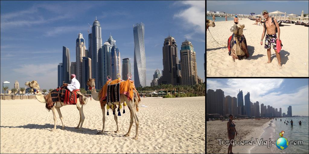 playa y rascacielos en la playa de Dubai Marina