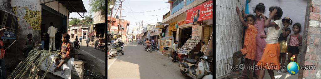 calles de agra en la india
