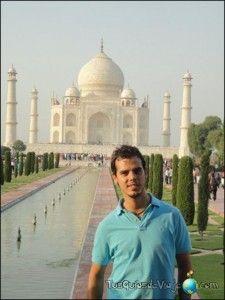 Visita al famoso mausoleo de Agra en la India