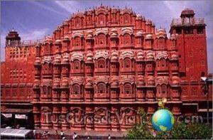 el palacio de los vientos en la ciudad rosa, jaipur