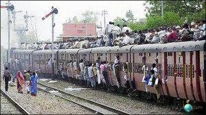 viajar en tren en la india