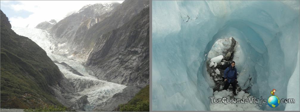 aventura sobre el hielo en Nueva Zelanda