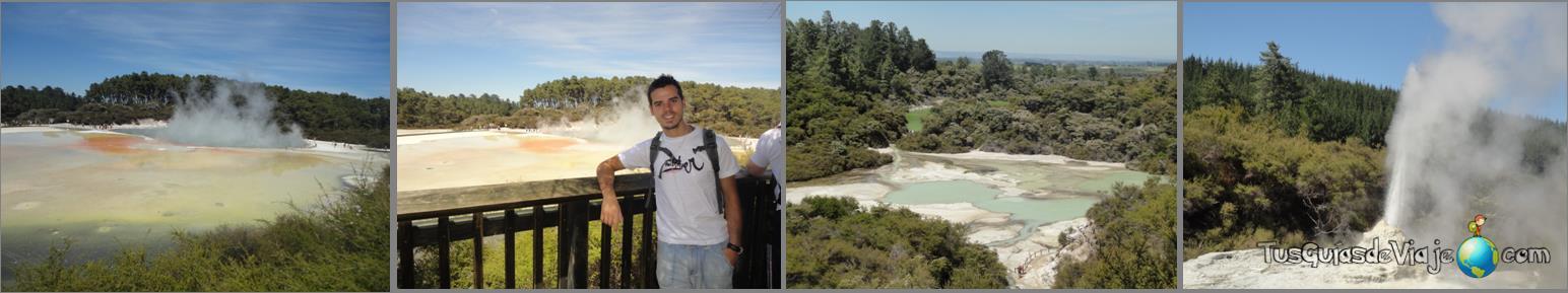 parque de aguas termales y geíseres en Rotorua