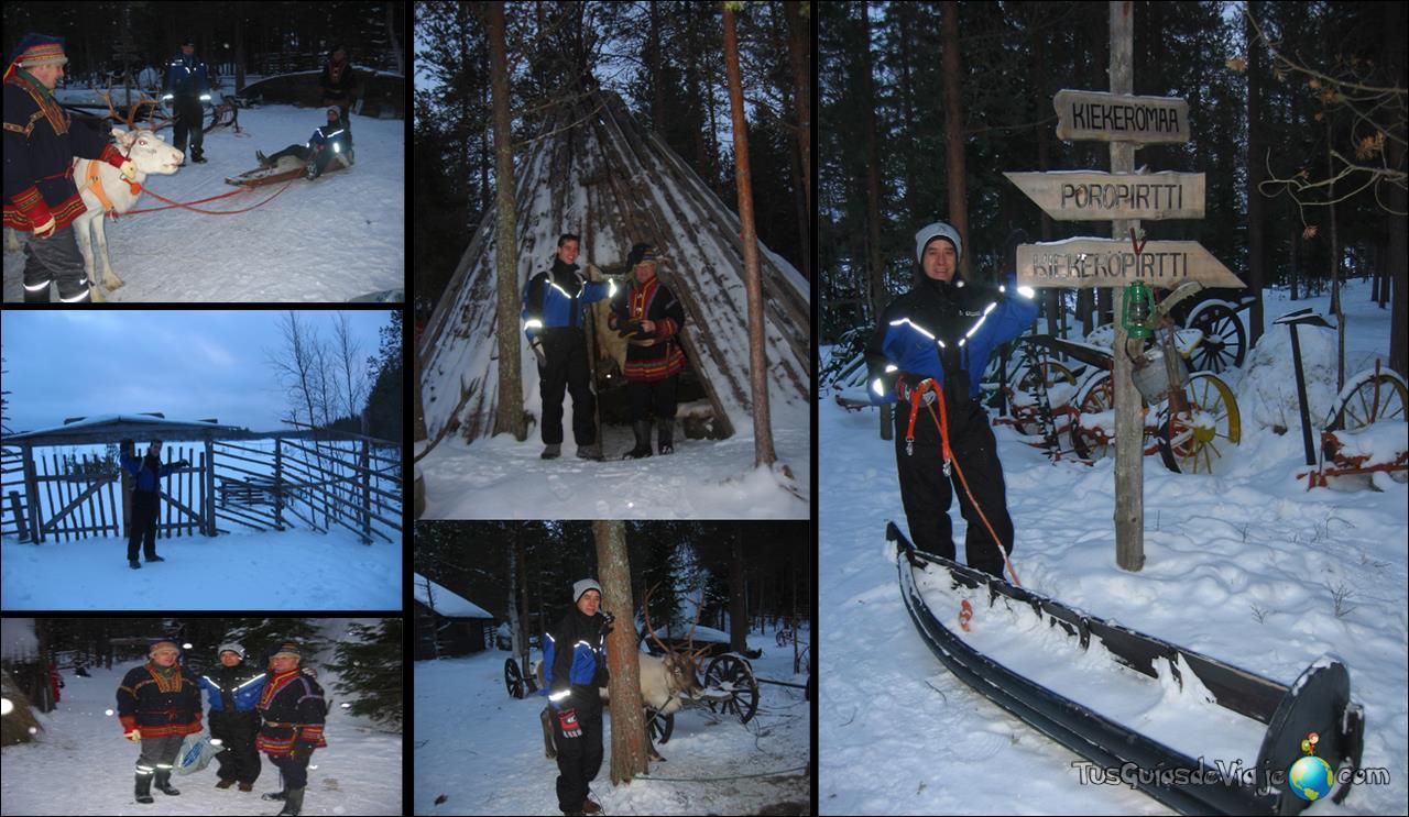 Forma de vida de un poblado sami en Finlandia