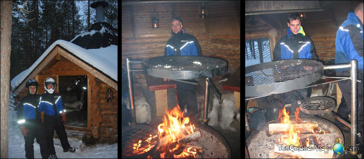Entrando en calor acompañados de los hospitalarios poblados sami