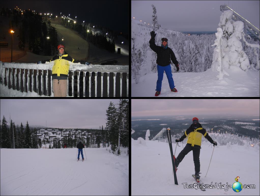 Estación de esquí en finlandia