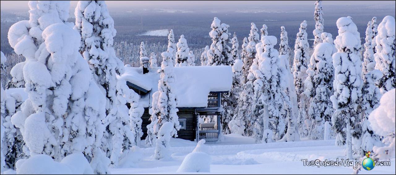 El circulo polar ártico en Finlandia