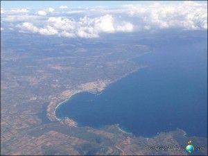 Vista desde el avión de Alghero