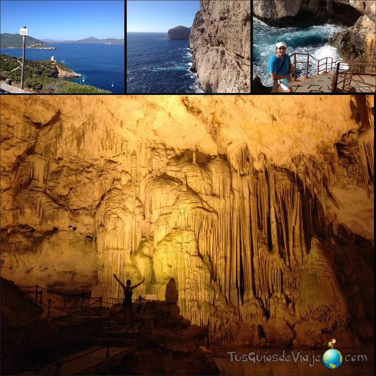 Bonita cueva en Alghero con muchos escalones