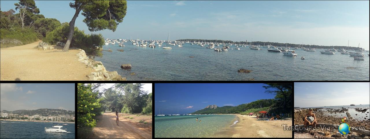 Preciosas islas enfrente de Cannes