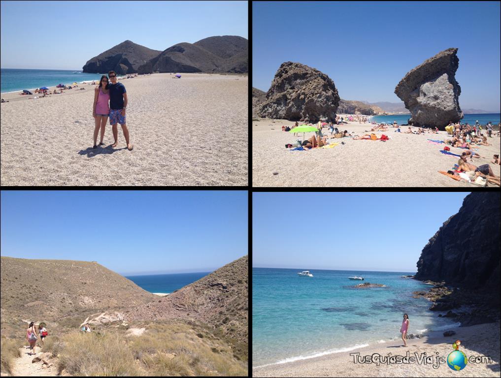 Una playa espectacular en Caroneras, Cabo de Gata