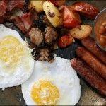 Cogiendo fuerzas con un buen desayuno irlandés