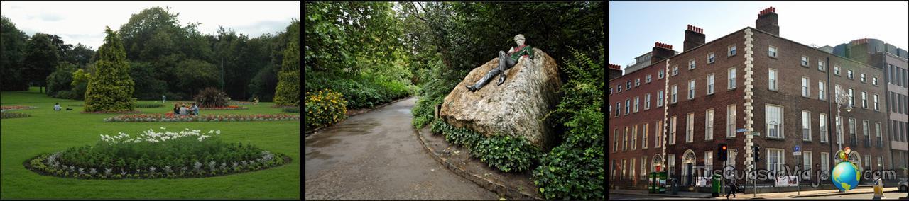 El lugar donde encontramos la estatua de Oscar Wilde