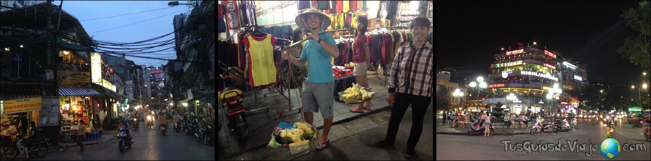 Vida nocturna en el Old Quarter de Hanoi