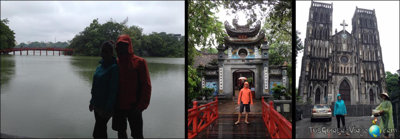 Templo en el medio del lago Hoan Kien