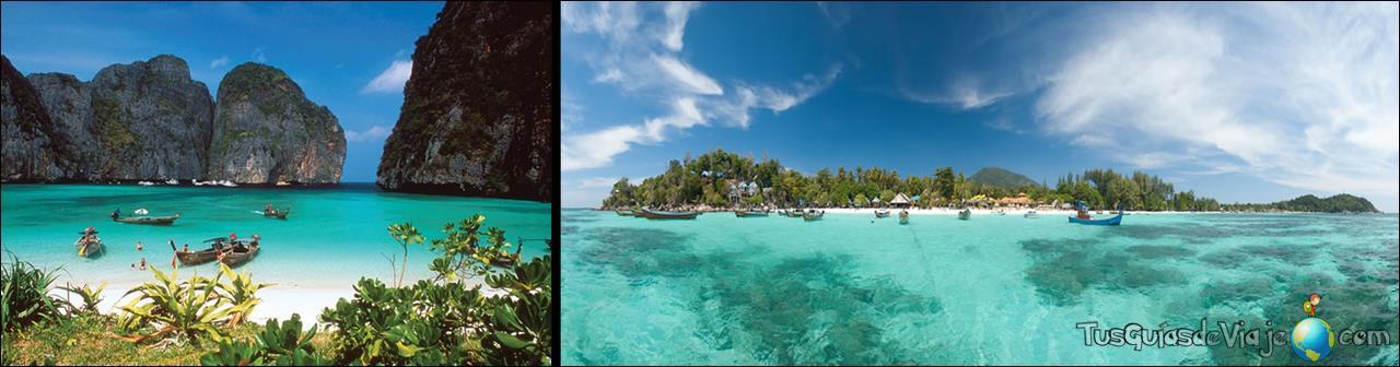 Playas paradisiacas en el mar de Andamán