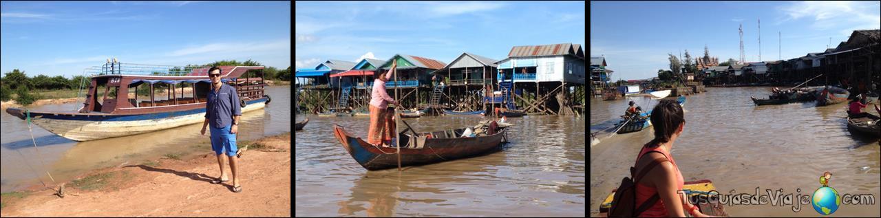 Pueblos flotantes en The Tonle Sap Lake