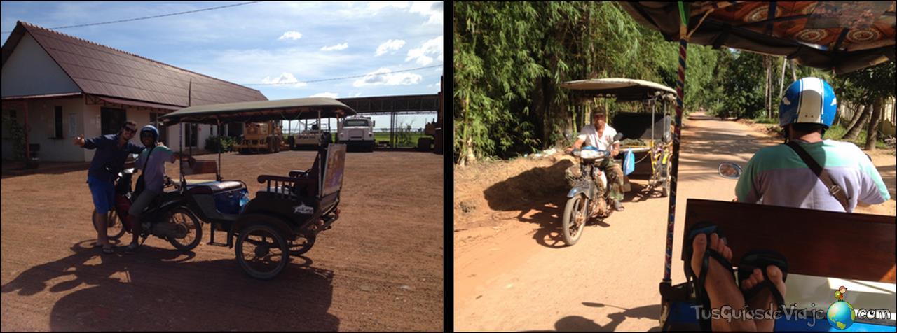 Divertido moverse en Tuc Tuc por Camboya
