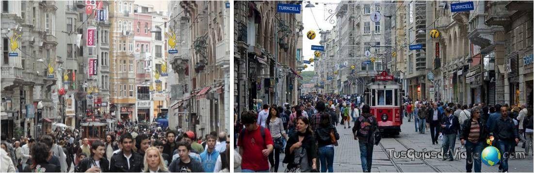 La principal avenida comercial de Estambul