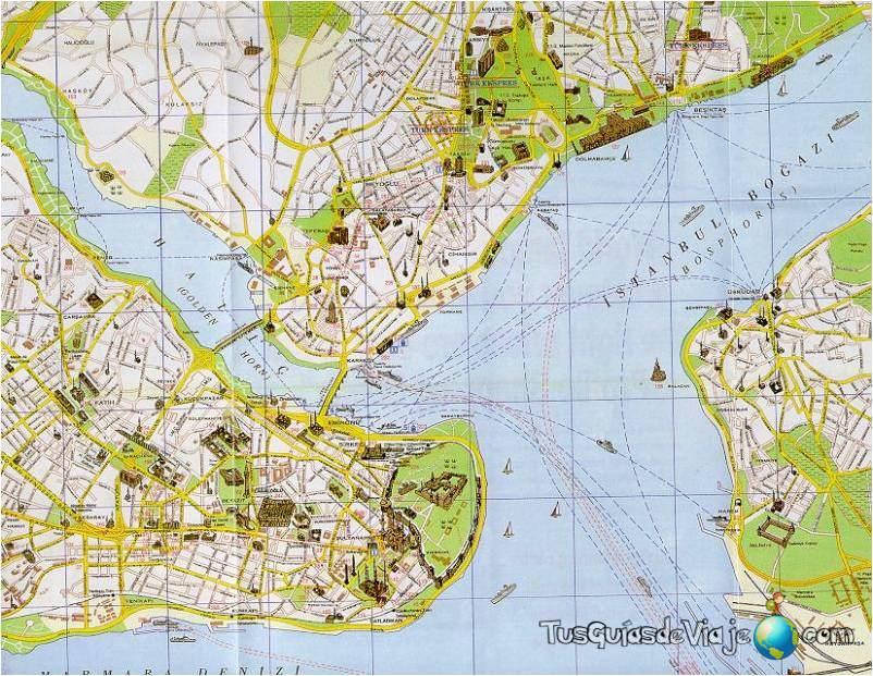 Mapa de Estambul