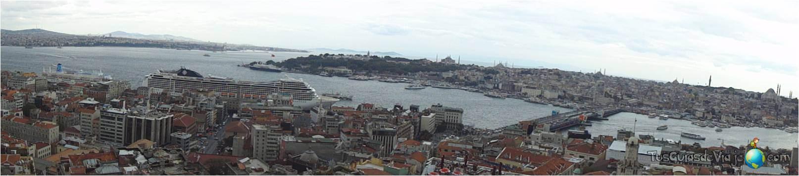 Vistas preciosas de Estambul desde la Torre Galata