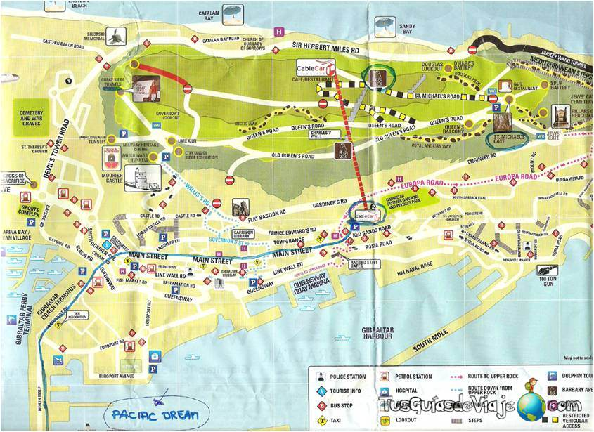 El mapa de Gibraltar