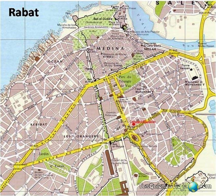 Mapa de Rabat