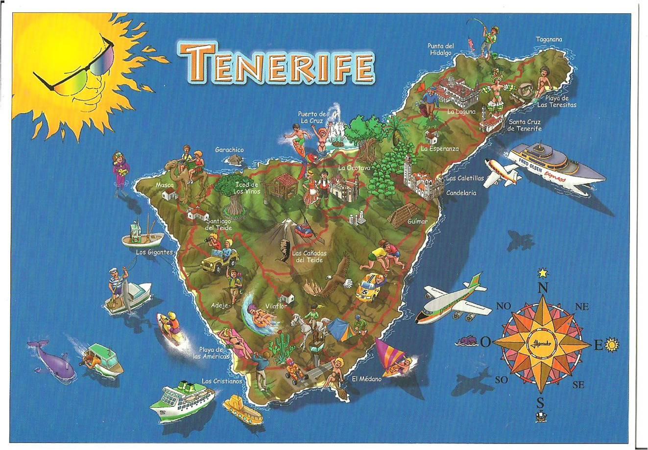 El mapa de Tenerife para organizar tu recorrido