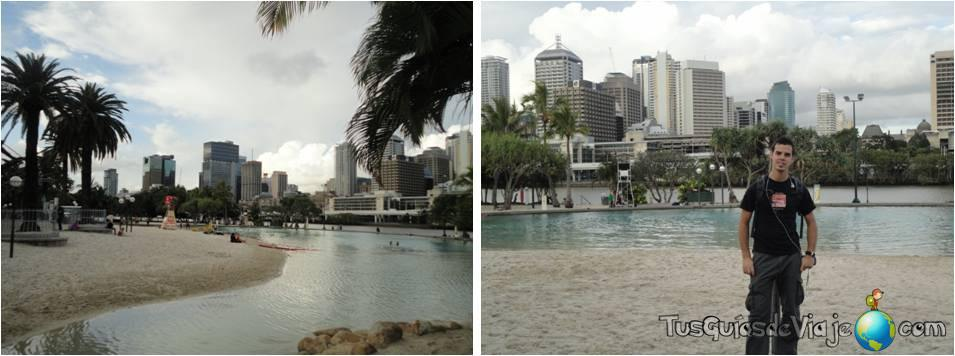 La zona de South Bank en Brisbane