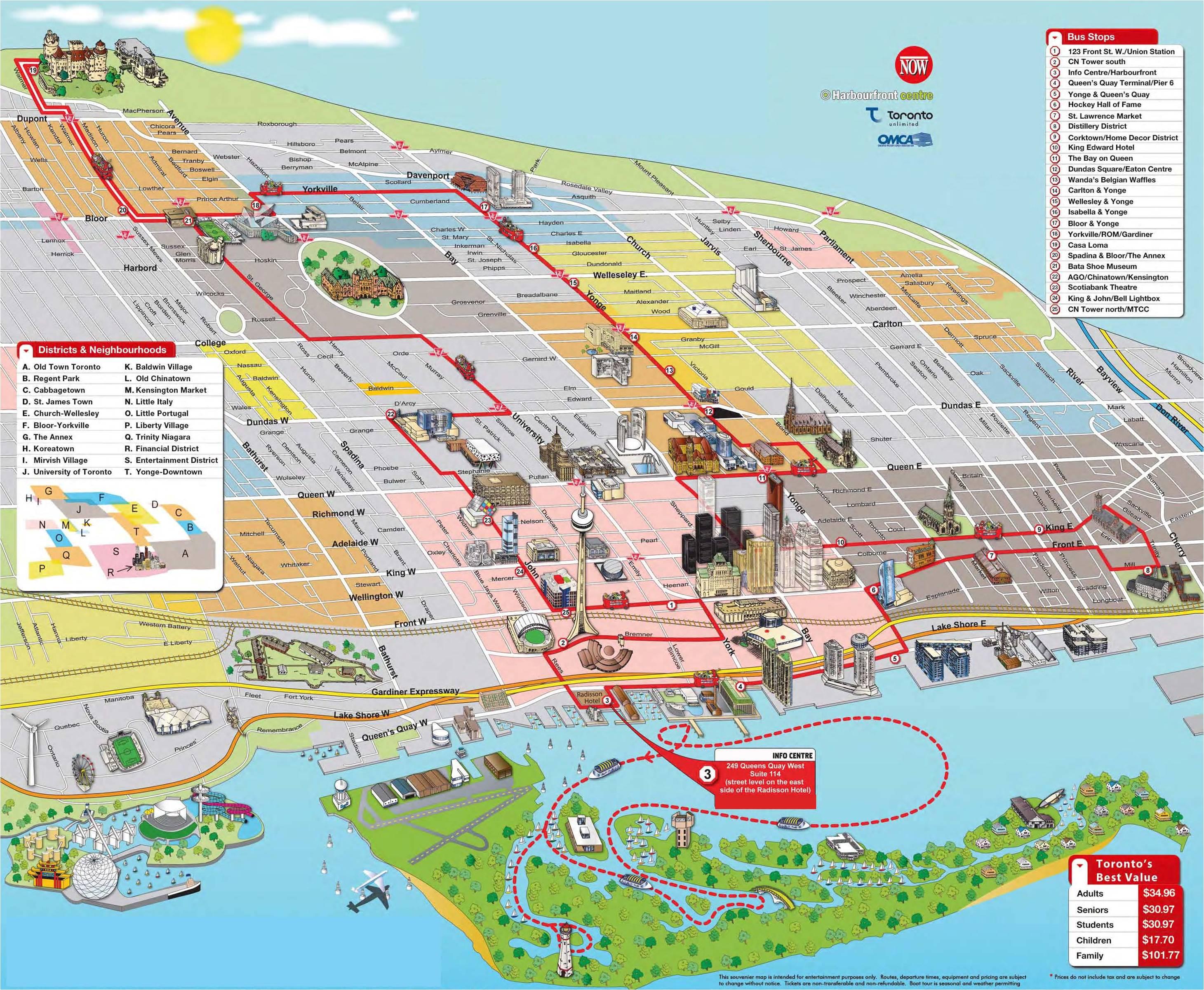 Mapa de la ciudad de Toronto