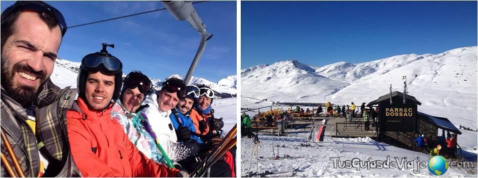 Esquiando en Beret a primera hora